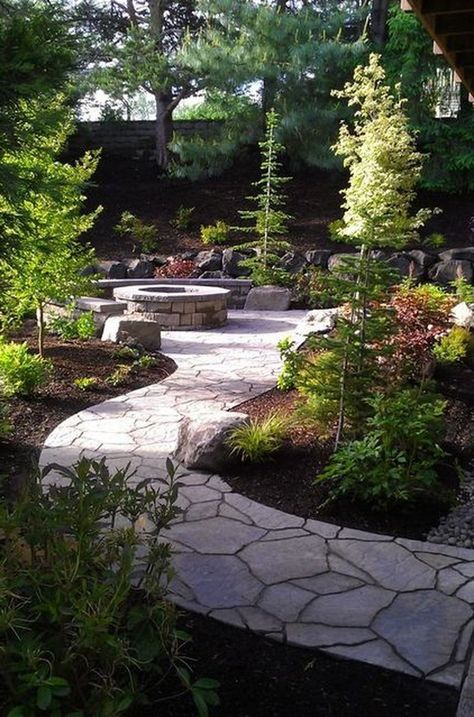 35+ Beauty Front Yard Pathways Landscaping Ideas on A Budget #frontyardlandscaping #frontyardlandscapingideas #frontyardlandscape