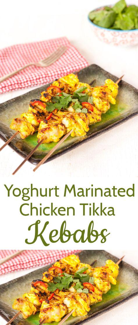 Quick & easy, fuss-free lightly spiced chicken tikka kebabs.