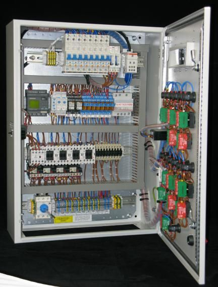 Inside A Control Panel Electrical Wiring Home Electrical Wiring Control Panels