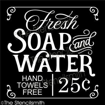 4892 Fresh Soap Water Bathroom Decor Signs Bath Sign Soap