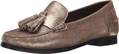 3e3ed7339e3 Cole Haan Womens Pinch Grand Tassel Gold Metallic Loafer 8 B M   Click on  the image for additional details. (This is an affiliate link)   WomenLoafersSlipOns