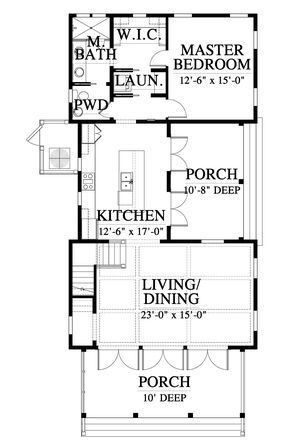 No Stairs Needs A Second Bedroom On First Floor Allison Ramsay River House Ground Floor Small House Floor Plans Cottage Floor Plans House Plans