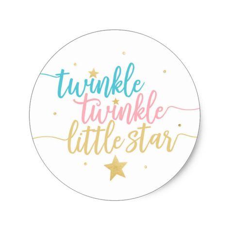 Twinkle Twinkle Little Star Round Sticker