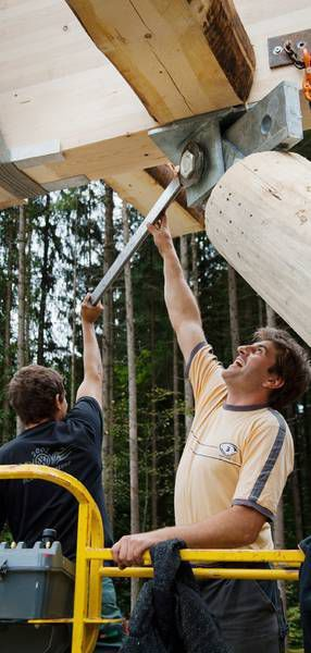 Poutre préfabriquée / en bois massif / en bois lamellé-collé / rectangulaire - Sohm HolzBautechnik GmbH