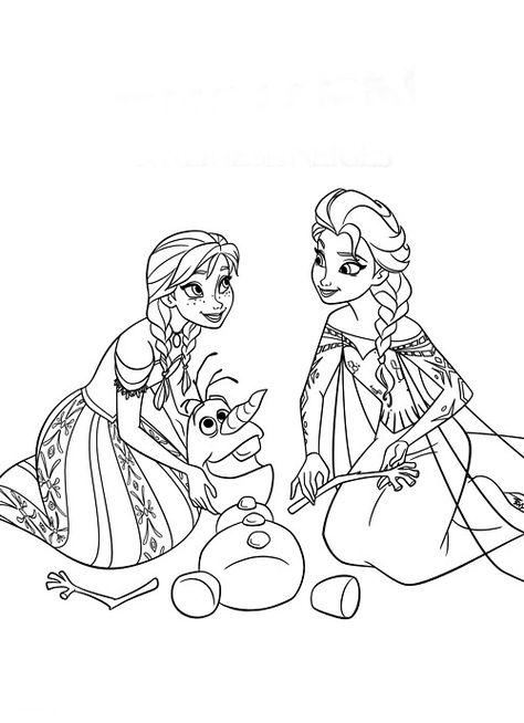Elsa E Ana Para Pintar Frozen Para Colorir Paginas Para Colorir