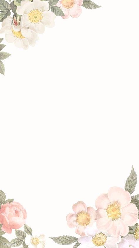Elegant floral frame design vector | premium image by rawpixel.com / manotang