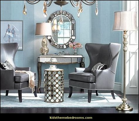 Hollywood Glam Living Rooms Old