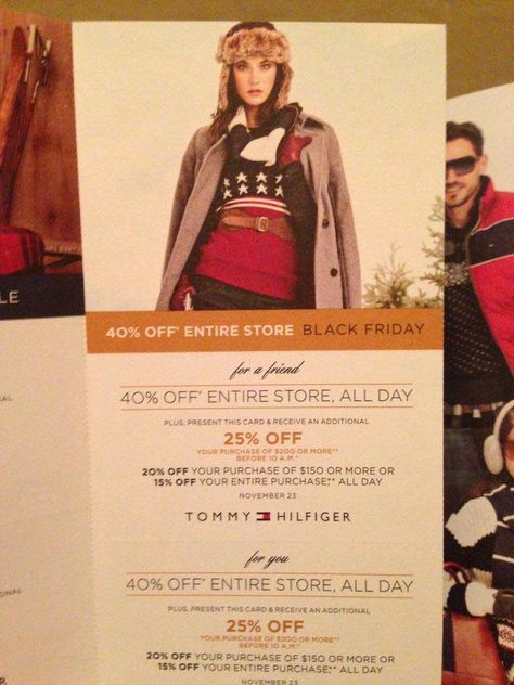 07e08e836 Black Friday Ad Leaks - Tommy Hilfiger Ad Scan #tommyhilfiger #hilfiger # blackfriday #holidayshopping #coupon