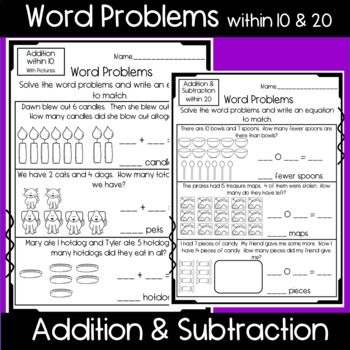 Word Problem Worksheets Word Problem Worksheets Word Problems Basic Subtraction
