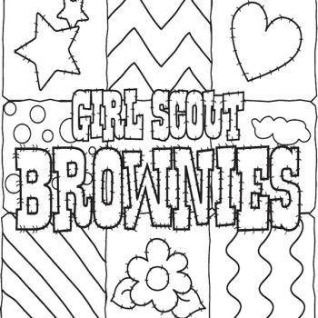 Girl Scout Brownie Coloring Pages Cookies