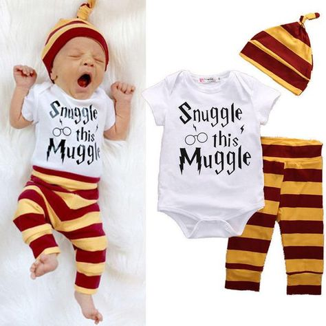 Bodysuit Sleep Suit Hat HARRY POTTER New Baby Set Hospital Bag Newborn Gift