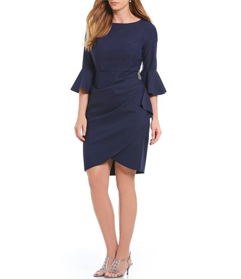 296b6d83a35 Shop for Maggy London Ruffle front Crepe Sheath Dress at Dillards.com. Visit  Dillards.com to find clothing