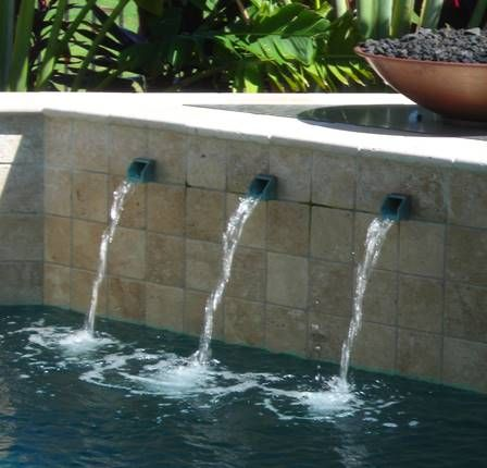 Do You Want A Waterfall Wall For Your Pool It Adds The Most Peaceful Sounds To Your Backyard Pool Water Features Water Features Water Features In The Garden