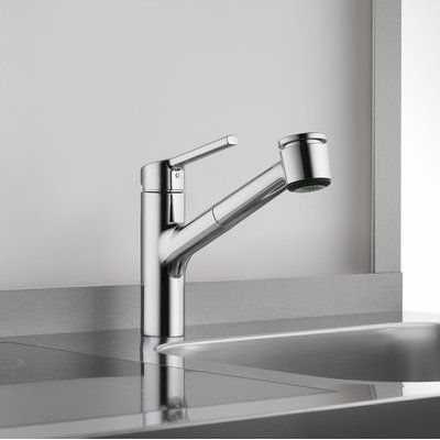 Kwc Luna E Pull Out Single Handle Kitchen Faucet With Jetclean