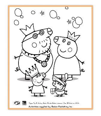 Ficha Peppa Pig Colorear Familia Dibujo De Peppa Pig Peppa Pig