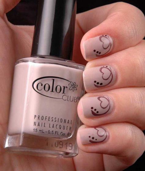 Nude mani for Feb 14 :: one1lady.com :: #nail #nails #nailart #manicure