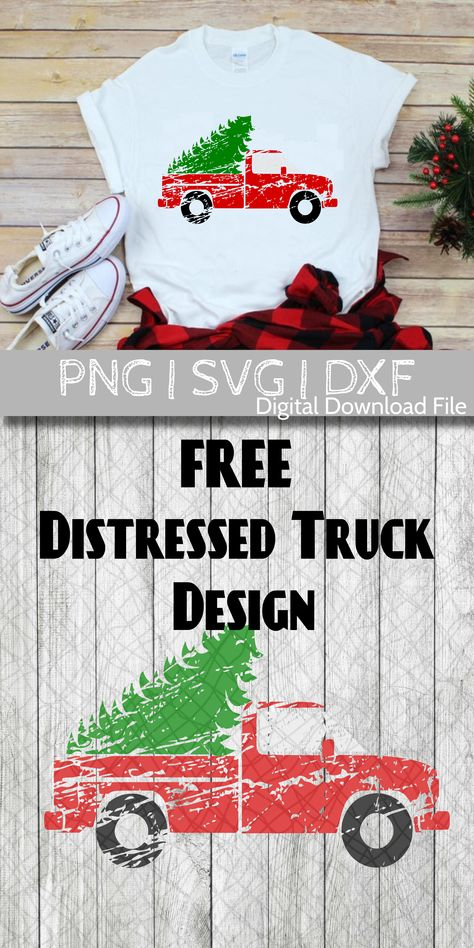 FREE Christmas SVG Distressed Truck with Tree - Book T Shirts - Ideas of Book T Shirts - Free SVG clip art design for Christmas. This design is perfect for shirts signs and more! Vinyl Crafts, Vinyl Projects, Merry Christmas, Christmas Crafts, Shilouette Cameo, Craft Day, Silhouette Cameo Projects, Cricut Creations, Cricut Design