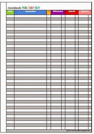 Free Printable Check Register Checkbook Size Printable Check Register Check Register Printable Checks