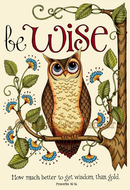 Owls and bible verses.