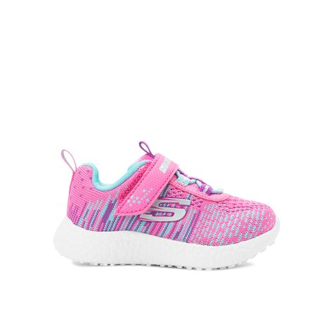 326588958c4 Tenis Skechers casual elaborado en textil color rosa con malla punta  redondeada y reforzada  agujeta elástica con broche de velcro en empeine  borde ...