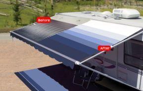 Rv Awning Replacement Fabrics Free Shipping Shadepro Inc Rv Awning Replacement Rv Awning Fabric Awning