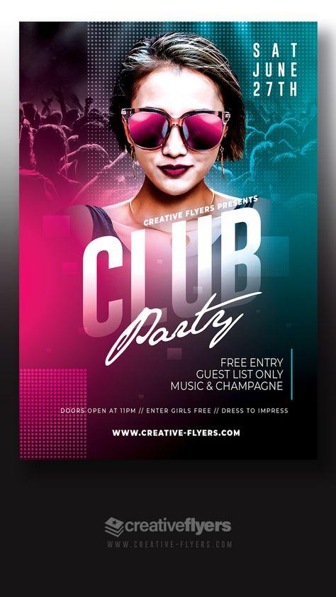 Night Club Design, Stock PSD Flyer.