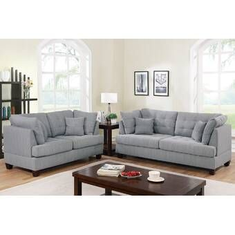 Amia 2 Piece Living Room Set Sofa And Loveseat Set Living Room Sets Living Room Collections