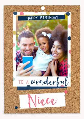 To A Wonderful Niece Photo Upload Birthday Card Sponsored Affiliate Photo Niece Wonde Business Card Templates Download Birthday Cards Personal Cards