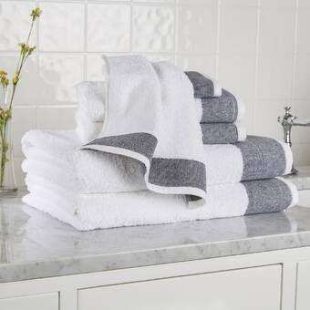 Birch Lane Heritage Claudine 6 Piece Turkish Cotton Towel Set Reviews Wayfair Turkish Cotton Towels Cotton Towels Cotton Hand Towels