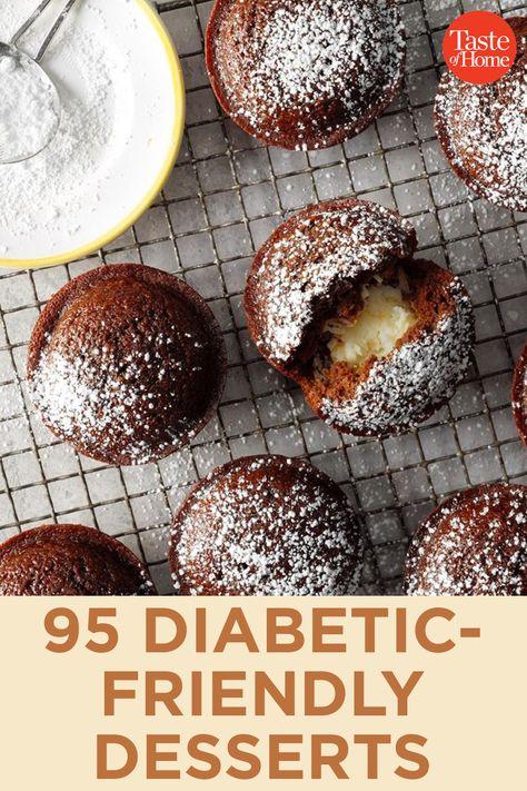 95 Diabetic-Friendly Desserts 95 Diabetic-Friendly DessertsYou can find Diabetic desserts and more on our Diabetic-Friendly Desserts 95 Diabetic-Friendly Desserts Low Sugar Desserts, Healthier Desserts, Raw Desserts, Delicious Desserts, Diy Dessert, Diabetic Friendly Desserts, Diabetic Drinks, Diabetic Meals, Diabetic Dessert Recipes