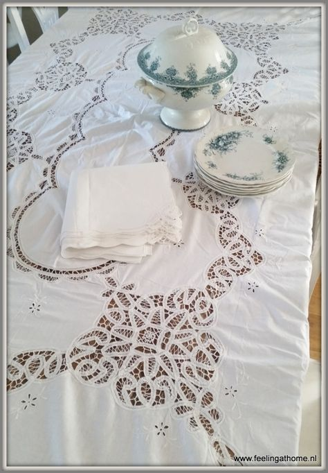 Handmade lace Battenburg tape lace tablecloth Light beigeecru cotton tablecloth Vintage 1970s.