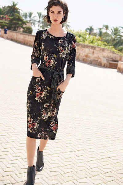 Next Kleid Mit Floralem Muster Bedruckte Kleider Modestil Langarmliges Kleid