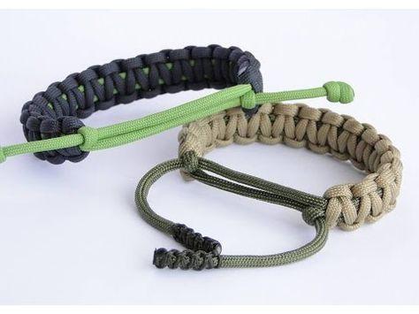 "550 Paracord Survival Bracelet Cobra SOLIDE NOIR /""MADE IN THE USA/"""