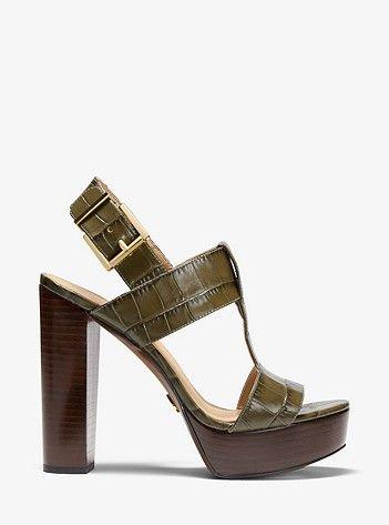 Becker Crocodile-Embossed Leather