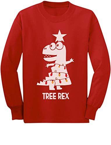 Tree Rex Cute Funny T-Rex Dinosaur Christmas Toddler//Kids Long sleeve T-Shirt