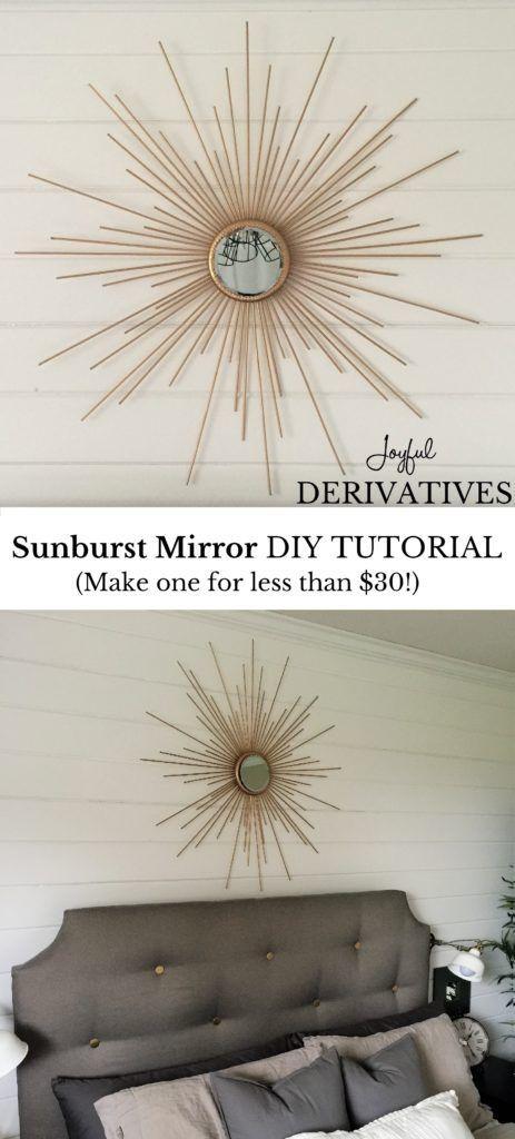 How To Make A Fabulous Diy Sunburst Mirror For Cheap Sunburst