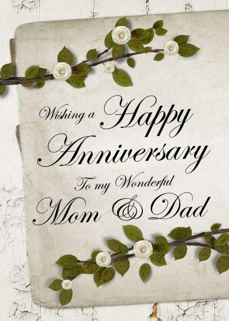 Happy Anniversary To My Wonderful Mom Dad Card Ad Ad Wonderful Wedding Anniversary Wishes Wedding Anniversary Greeting Cards Happy Anniversary Mom Dad