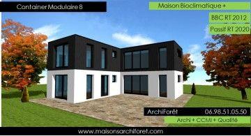 Maison Toit Plat Et Toiture Terrasse Bac Acier Ou Siplast Acrotere Et Couvertine Par Votre Architecte Constructeur En 2020 Maison Toit Plat Toiture Terrasse Toit Plat