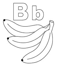 Alphabet Letter B Coloring Page A Free English Coloring Printable Lettering Alphabet Alphabet Coloring Pages Printable Alphabet Letters