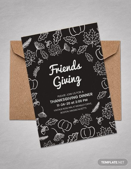 Thanksgiving Greeting Card Invitation Template Free Jpg Word Outlook Apple Pages Psd Publisher Template Net Thanksgiving Invitation Template Invitation Template Thanksgiving Invitation