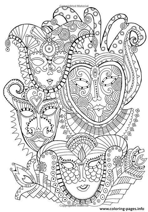 Coloriage Zen Ecole.Print Adult Zen Anti Stress Mask Carnival Coloring Pages Coloring