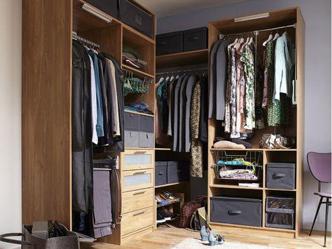 Des Dressing Pour Un Rangement Optimal Leroy Merlin Avec Images Idee Dressing Rangement Dressing Dressing Angle