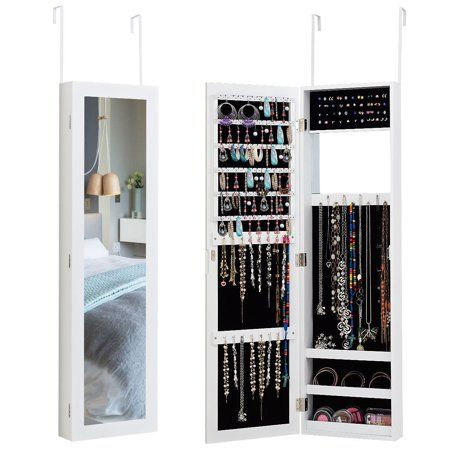 Home Wall Mounted Jewelry Armoire Wall Storage Cabinets Armoire Storage