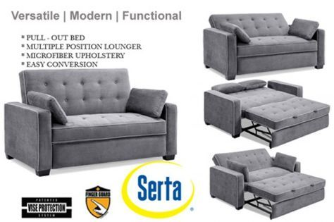 Augustine Space Saving Full Or Queen Size Modern Sofa Bed Futon