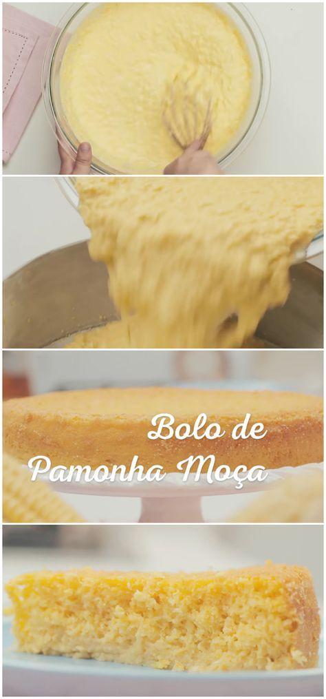 Bolo De Pamonha Moca Bolo Pamonha Milho Receita Gastronomia