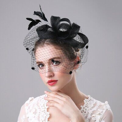 1 X Fascinator Stylish And Kentucky Derby Hat Noble Delicate Feathers And Material Is Compertable And Eas Bridal Hair Fascinators Bridal Women Vintage Bride