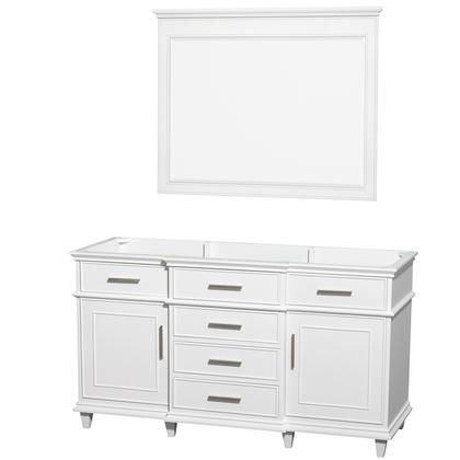 Wcv171760swhcxsxxm44 60 In Single Bathroom Vanity In White With