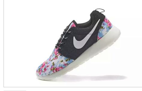 quality design 03956 b70ec 51% off Floral Pattern Nike WMNS Roshe Run Supremo Customs Red Pink Black  White Tick 2015 shoes   shoes   Pinterest