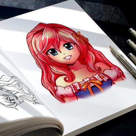 Comment dessiner un personnage de manga facilement | Style MOE | DÉBUTANT