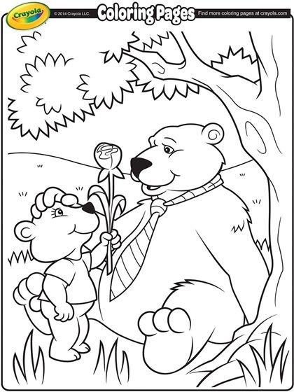 Pin By Carol Ferris On Preschool Crafts With Images Crayola Coloring Pages Bear Coloring Pages Fathers Day Coloring Page